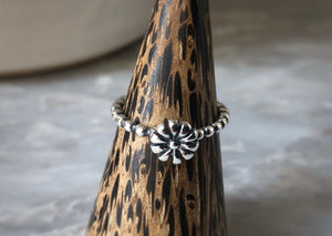 Bobble Sterling Silver Flower Ring Tiger Lily London