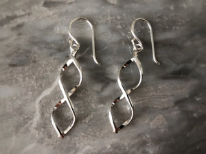 Sterling Silver Helix Earrings Tiger Lily London