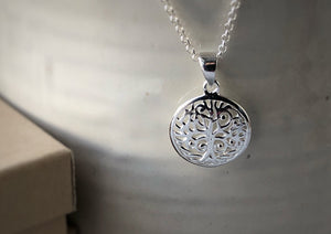 Tree of Life Sterling Silver Pendant Necklace Tiger Lily London