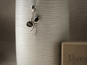 Smoky Quartz Sterling Silver Branch Pendant Necklace Tiger Lily London
