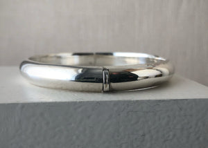 Sterling Silver Opening Bangle Tiger Lily London