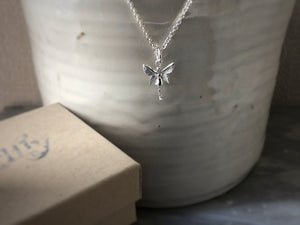 Sterling Silver Angel Pendant Necklace Tiger Lily London