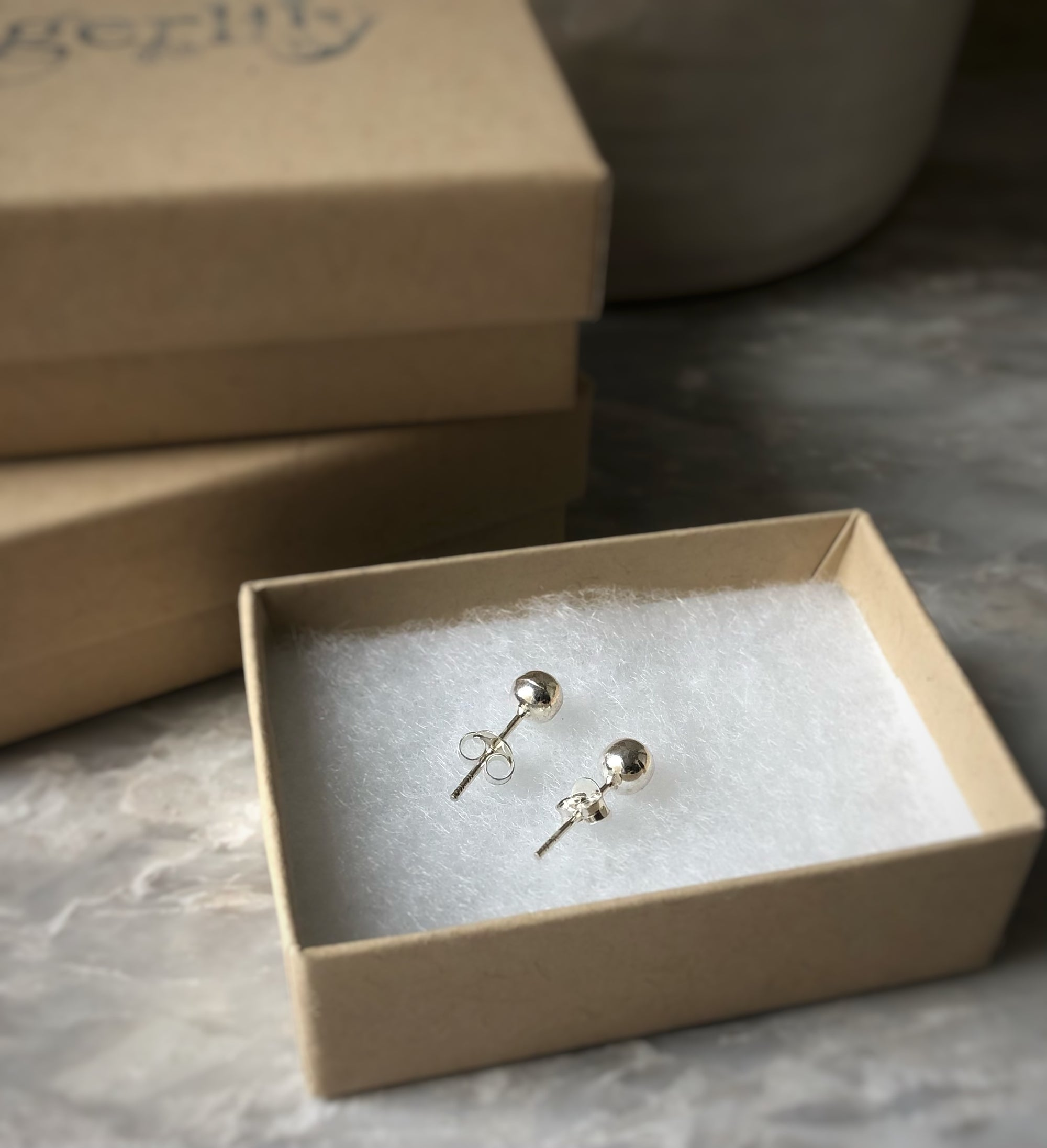 Silver 5mm Ball Stud Earrings