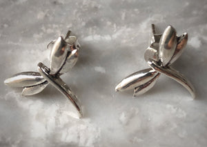 Sterling Silver Dragonfly Stud Earrings Tiger Lily London