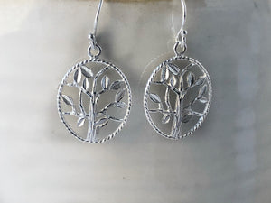 Sterling Silver Tree of Life Earrings Tiger Lily London