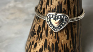 Decorative Heart Sterling Silver Ring Tiger Lily London