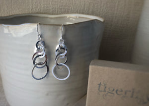 Sterling Silver Multi-Hoop Earrings Tiger Lily London