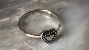 Decorative Heart Silver Ring