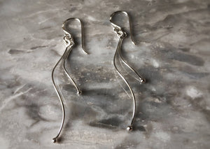 Sterling Silver Wave Earrings Tiger Lily London