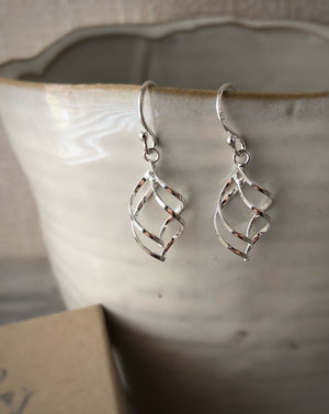 Silver Simple Twist Earrings