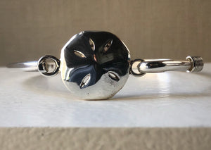 Sterling Silver Flower Bangle Tiger Lily London