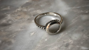 Hammered Sterling Silver Circle ring Tiger Lily London