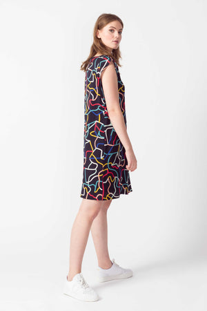Multicoloured Viscose Ecovero Dress