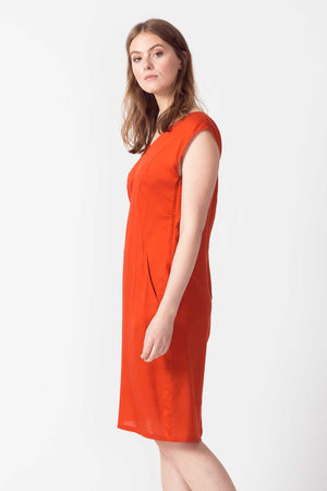SKFK Zerua Tencel Dress in Burnt Orange WDR00896