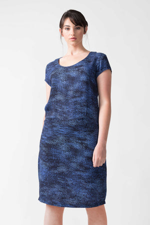 SKFK Abene Ecovero Dress Blue Print