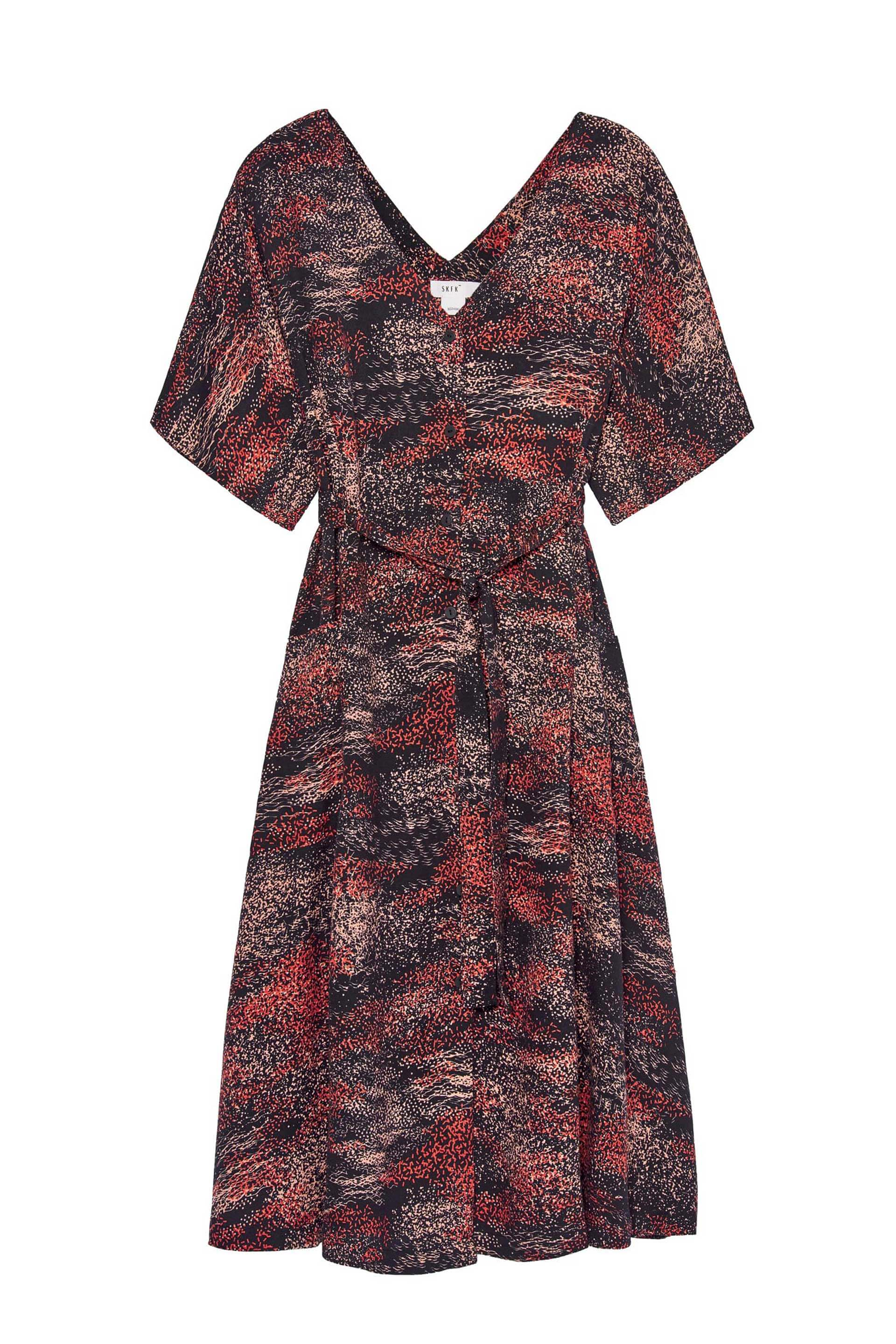 Nahikari Ecovero Dress by Spanish eco-brand SKFK Skunkfunk WDR00881
