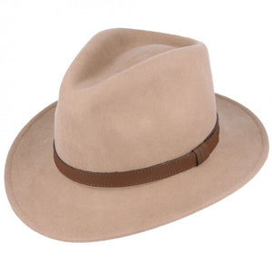 Camel Crushable Fedora Wool Hat