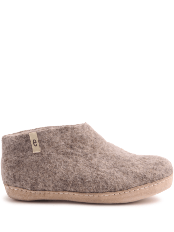 Grey Felt Slipper Shoe
