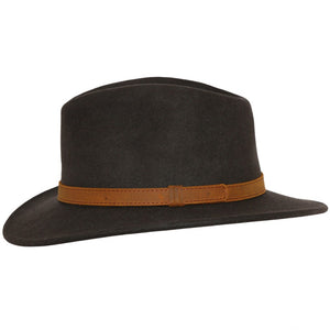 Brown Crushable Fedora Wool Hat