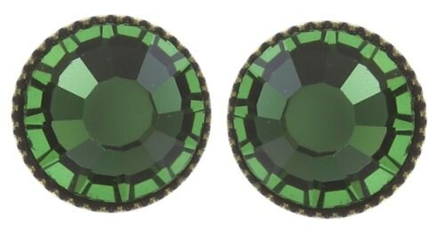 Green Black Jack Flat Stud Earrings