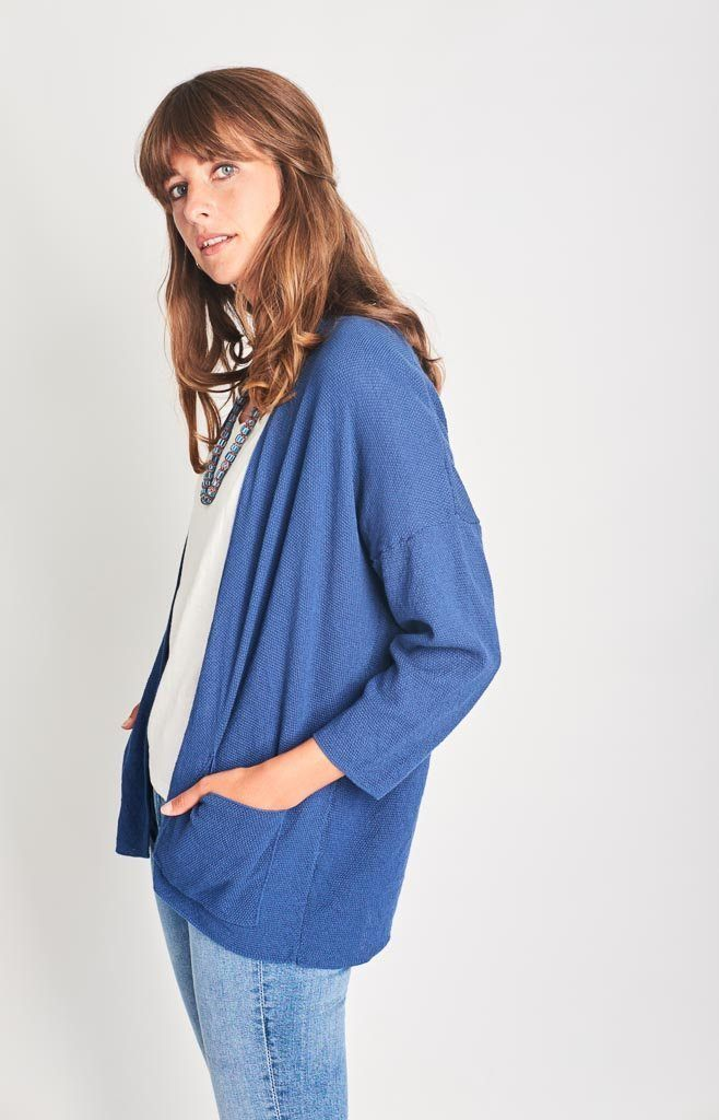 Bibico Cara Navy Organic Cotton Cardigan