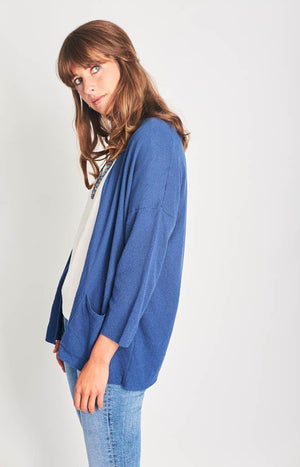 Navy Organic Cotton Cardigan