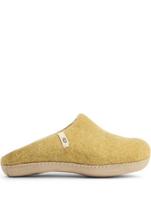 Mustard Yellow Felt Slippers
