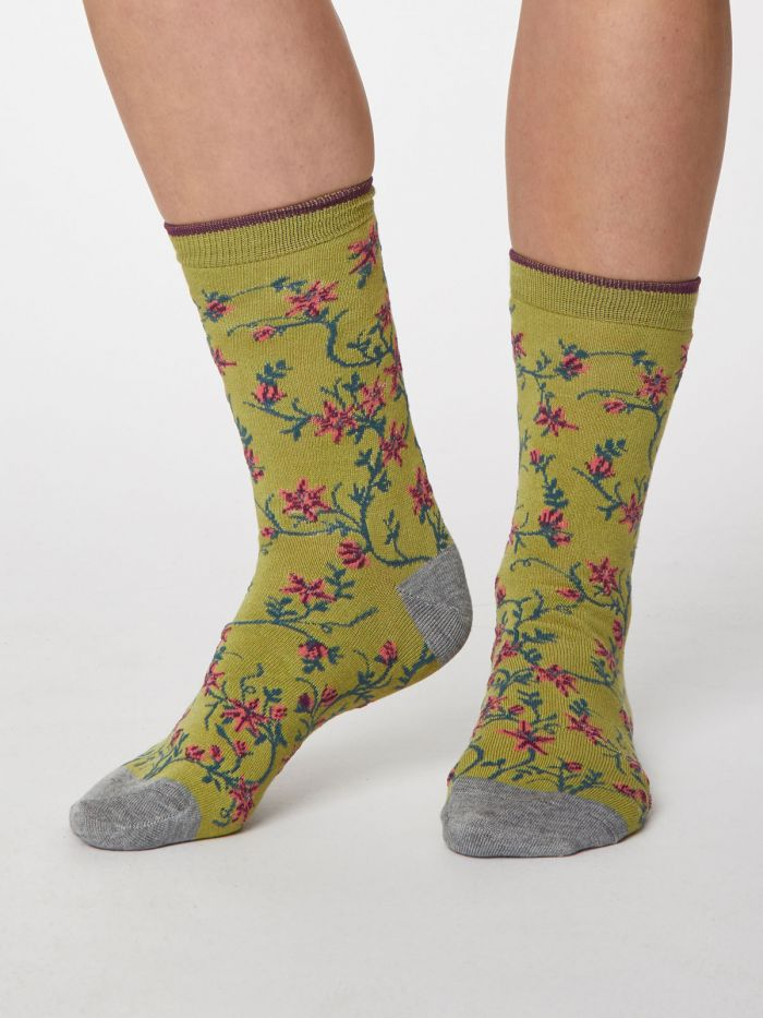 Sustainable and Ethical Floreale Bamboo Socks- Floral by Thought