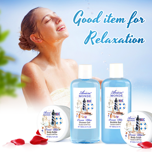 Home Spa Gift Set with Ocean Bliss Scent