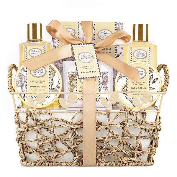 Bath & Shower Spa Gift Basket Set 9 Pcs - ariosemondegift