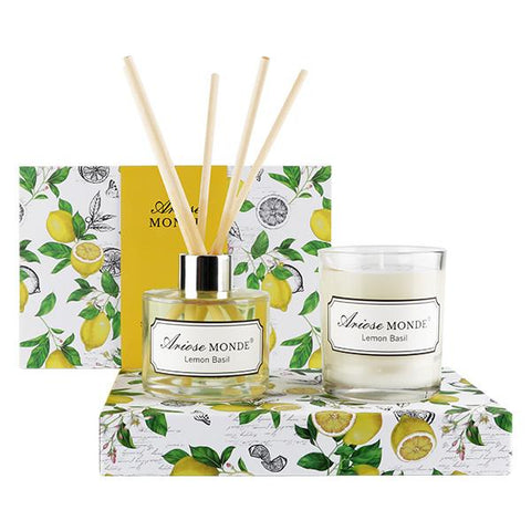 Fragrance Diffuser & Scented Candle Gift Set - ariosemondegift