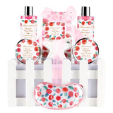 Spa Basket Gift Set, Peony & Blush Suede - ariosemondegift