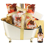 Spa Gift Basket with Fresh Rose Scent 10 Pcs - ariosemondegift