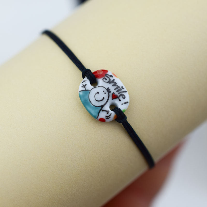 Load image into Gallery viewer, Porcelain bracelet handmade and hand painted by Vali Bondoc
