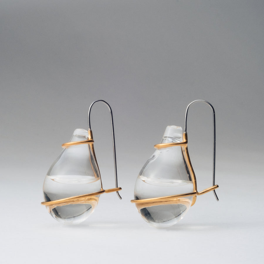 RForm Tear Drop Earrings in Gold
