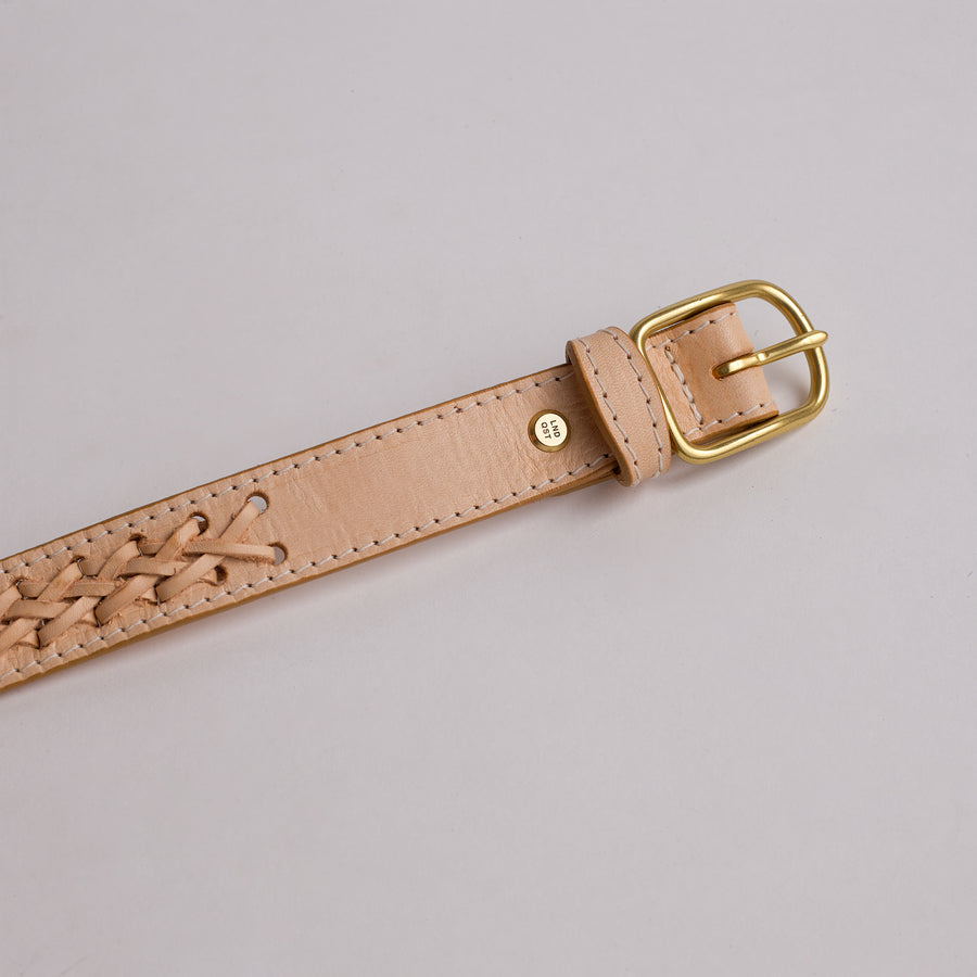 Lindquist Vachetta Handmade Leather Belt with Custom Solid Brass Rivet and Buckle