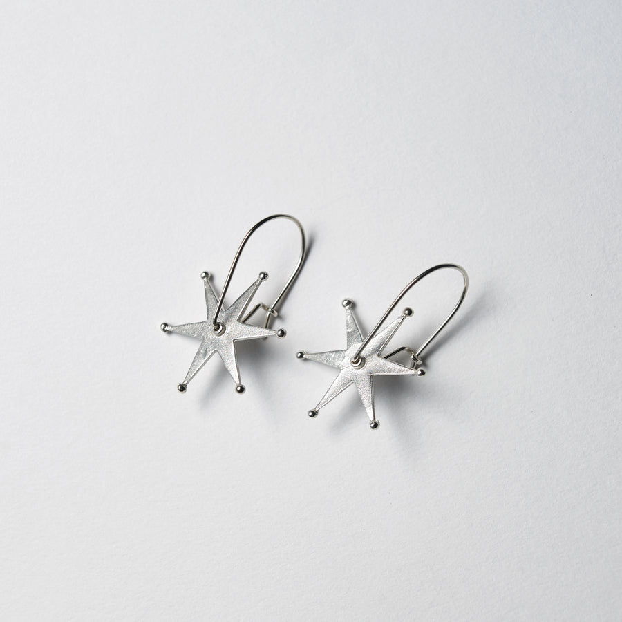 RForm Spur Earrings in Sterling Silver