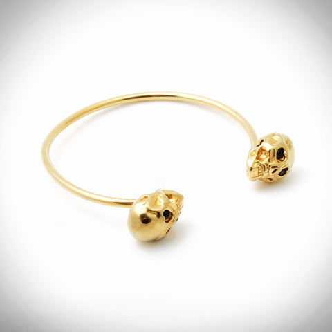 Two-Headed Skull Bangle