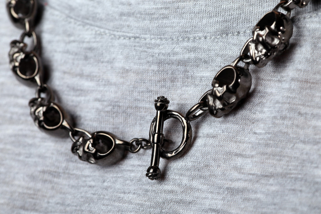 Chunky Skull Chain Necklace