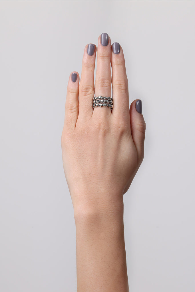Stackable Skull & Cross Ring