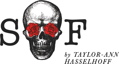 Skulls on Fire Jewelry by Taylor-Ann Hasselhoff