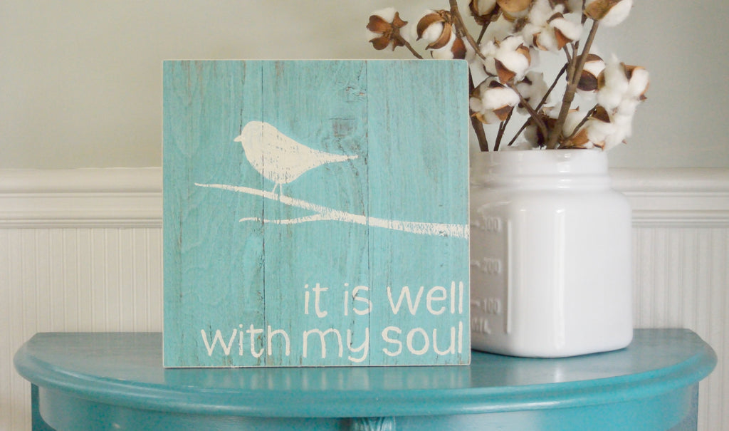 It is Well with My Soul Wood Art by Scripted Simplicity