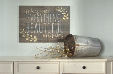 Everything Beautiful Scripture Wall Art