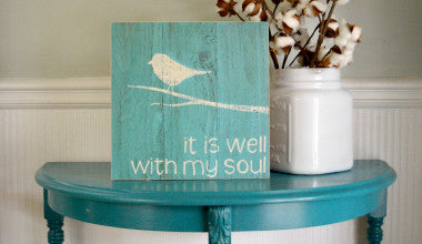 It is Well With my Soul Wood Art