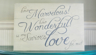 Marvelous Wonderful Love Wood Art