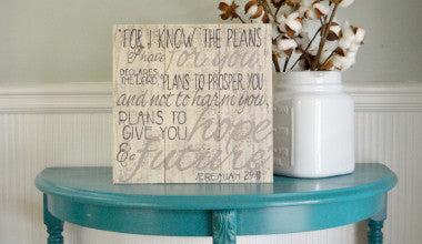 Jeremiah 29:11 Scripture Wood Art