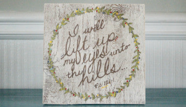Lift Up My Eyes Scripture Art
