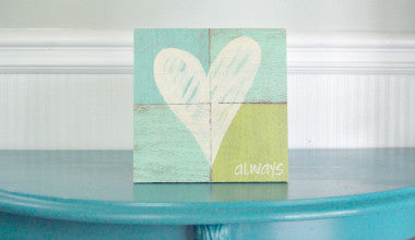 Love Always Heart Wood Sign