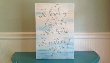 Psalm 23 Wood Scripture Art
