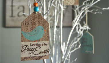 Peace on Earth Gift Tag Ornament
